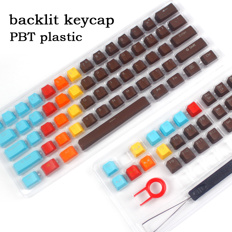 цена на New Arrival backlit keycap 108 Keys PBT Keycaps OEM Height For Cherry MX Switches Mechanical Gaming Keyboard Keycaps