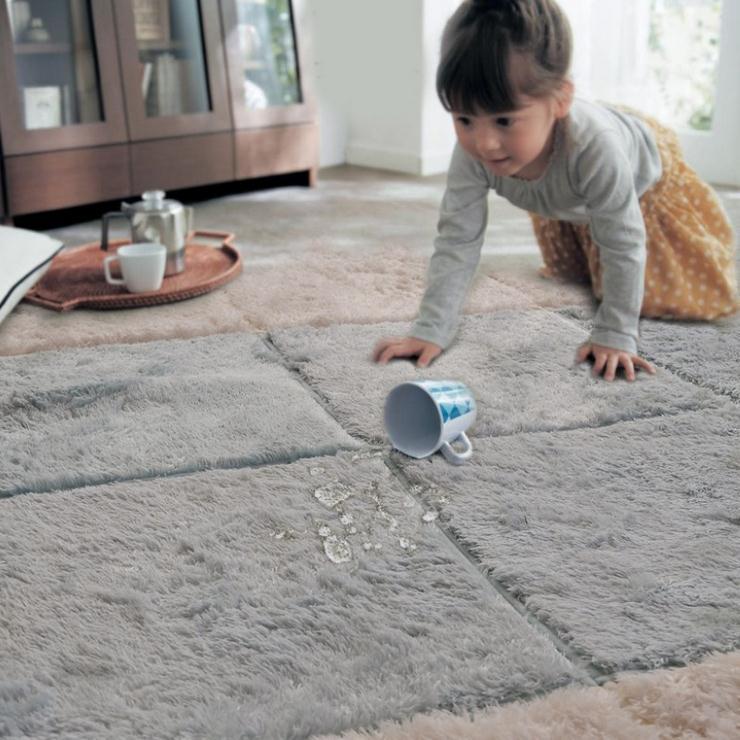 10pcs/Lot Long Hair <font><b>Carpet</b></font> Living Room Door Mat Puzzle Mat Baby Crawling Cutting Area Rug Kids Play <font><b>Carpet</b></font> Tatami Mosaic Floor