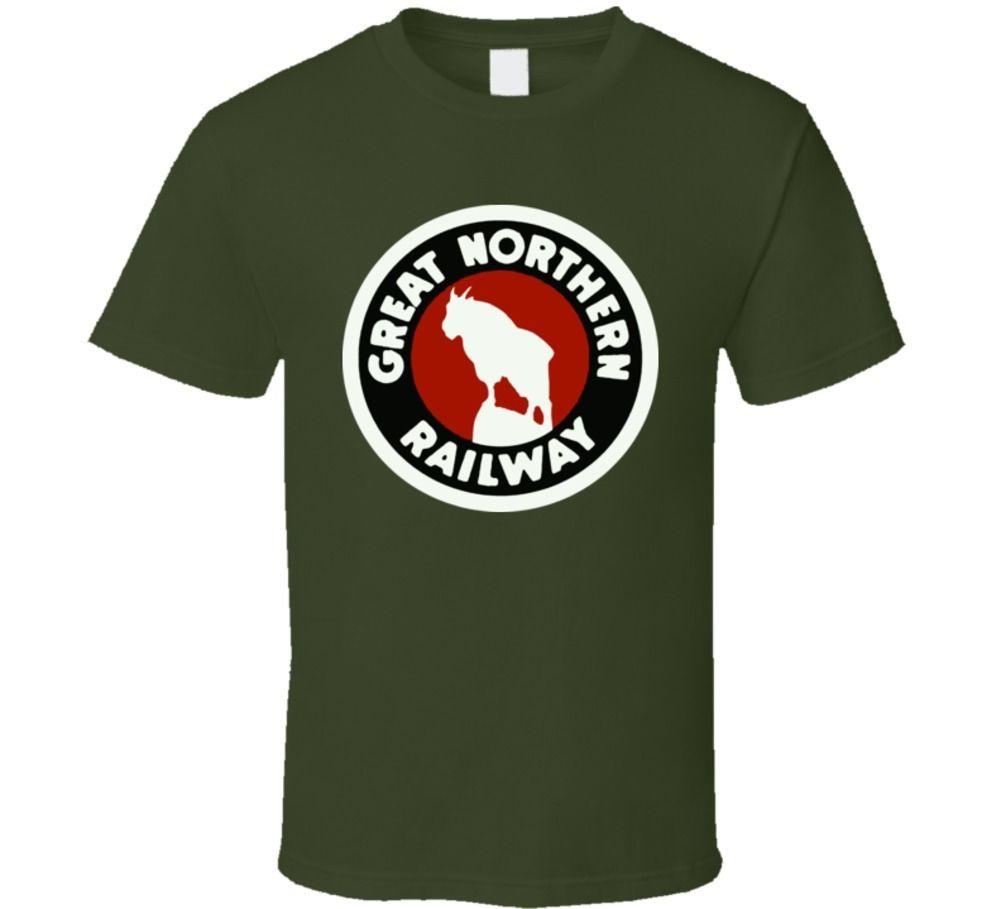 Great Northern Railway Railroad Logo T Shirt Short Sleeve Fashion Summer Printing Casual Tops Men T-Shirt The