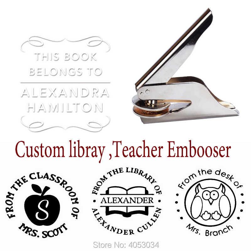 ส่วนบุคคล Library แสตมป์ครู library stamp จากห้องสมุดแสตมป์, หนังสือเล่มนี้เป็นของแสตมป์, custom ครู librar