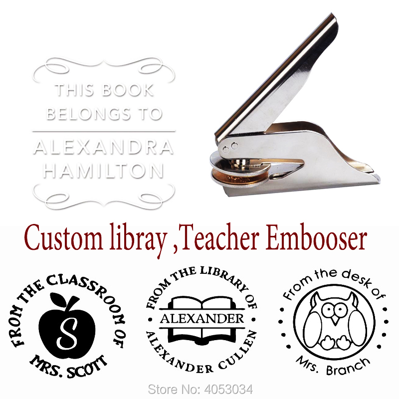 US $10 67 11% OFF|Personalized Library Stamps, Teacher library stamp, from  the library of stamp, This book belongs to stamp, custom teacher librar-in