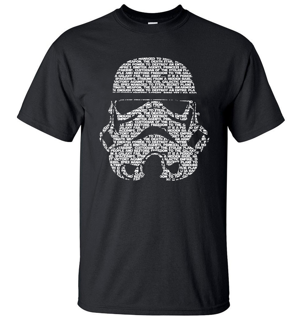 Star Wars Masks Words Hip Hop Tops Tee