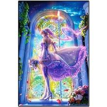 5D DIY diamond painting beautiful female  full square round handmade mosaic bedroom decor chirldren gift