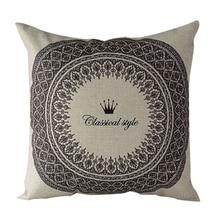 Funda de almohada de lino y algodón con 6 patrones Vintage, funda decorativa para cama, cojín para el hogar y la Oficina, funda de almohada