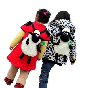 Candice guo! New arrival very cute sheep plush toy schoolbag baby backpack lamb 1pc