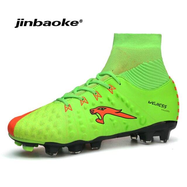 a5e6d2a4a JINBAOKE New Men Soccer Shoes FG Low Ankle Superfly Football Boots Kids  Original Gold Metallic Cleats Sneakers Wholesale 38-45