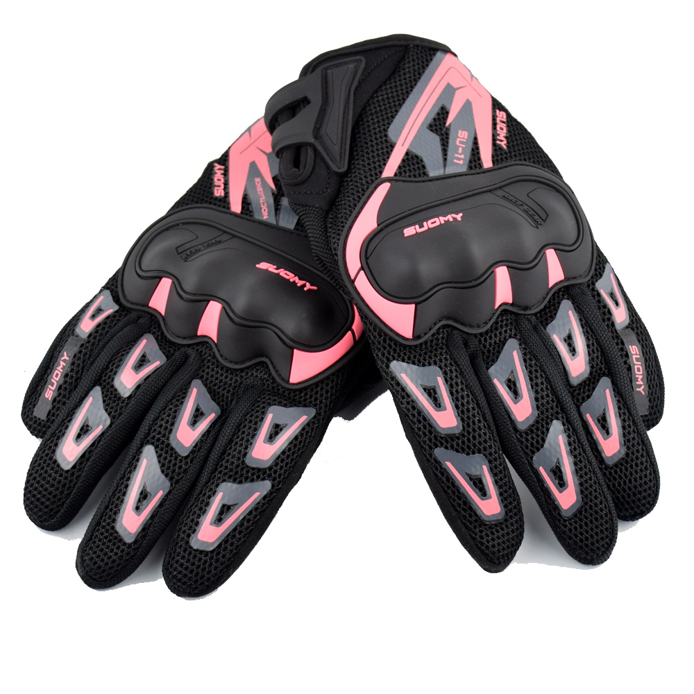 Image 3 - SUOMY Summer Breathable Motorcycle Gloves Touch Screen Guantes 
