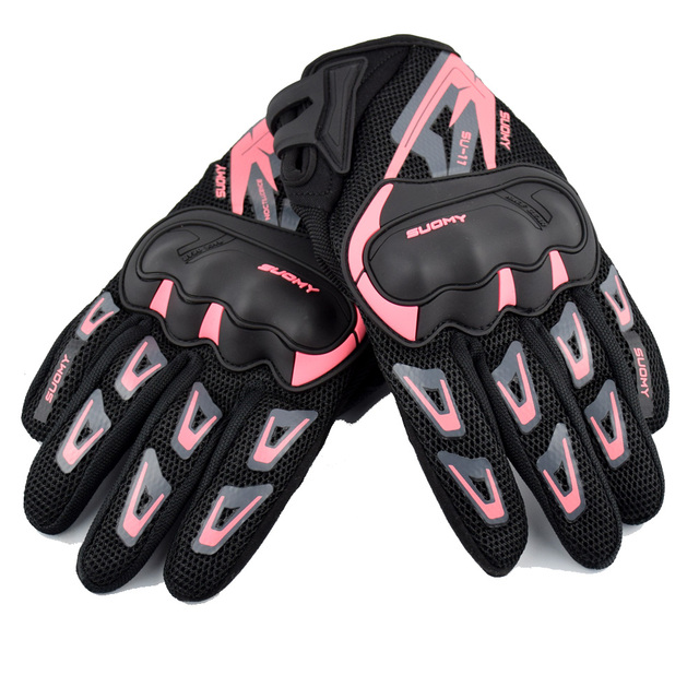 SUOMY Summer Breathable Motorcycle Gloves Touch Screen Guantes Motorbike Protective Gloves Cycling Racing Full Finger Gloves 2
