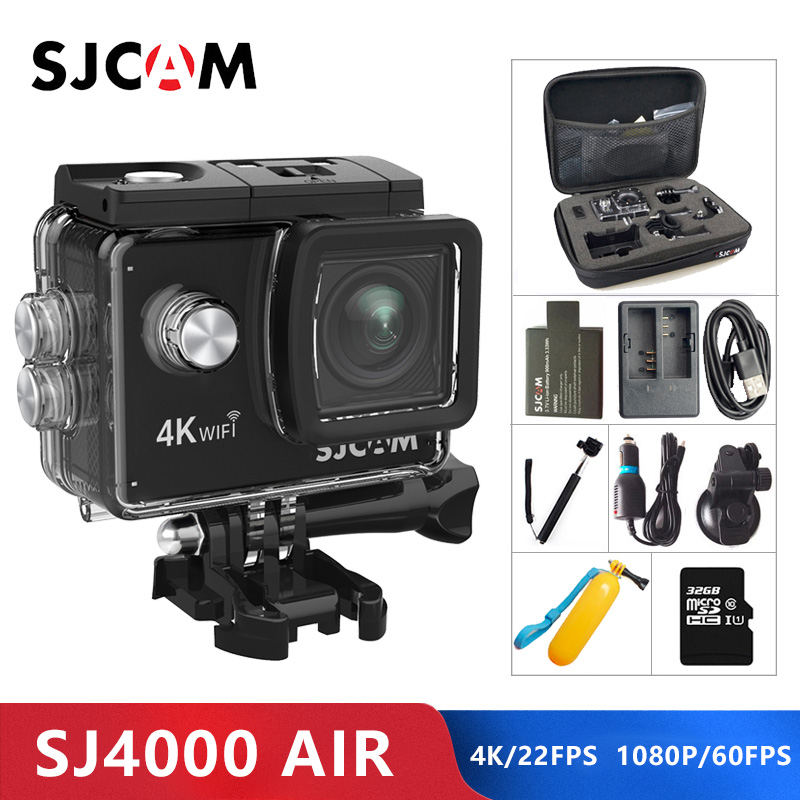 Оригинальный SJCAM SJ4000 AIR 4 K действие Камера Full HD Allwinner 4 K WI-FI 2,0 Экран мини шлем Водонепроницаемый Спорт DV Камера