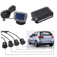 Top Qualidade de Sensor de Estacionamento 4 Sensores 40 KHz Buzzer Traseira Frente Kit LCD Car Mostrar Reverter Radar Backup Monitor de Alarme sistema
