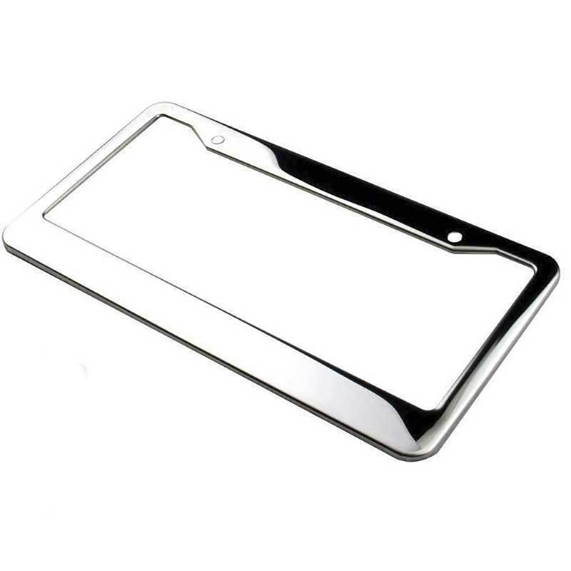 Honda Wide Bottom License Plate Frame Bright Mirror Stainless Steel Made in USA