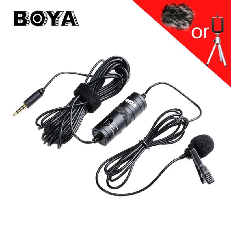 BOYA BY-M1 Microphone Professionnel 6 M Cravate Stéréo Audio Enregistreur Interview Clip Mic Pour Nikon Canon DSLR iPhone 7 LG téléphone