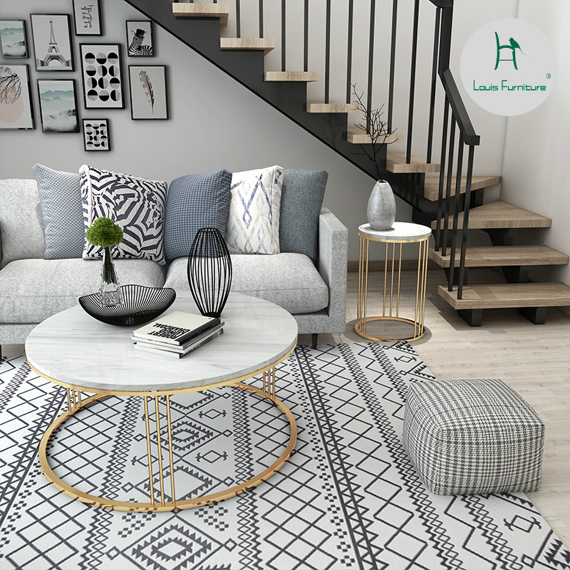 Us 98 9 Louis Fashion Coffee Tables Scandinavian Marble Tea Small Apartment With Simple Modern Living Room In From Furniture On