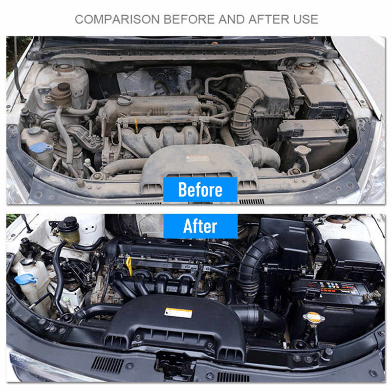 1PCS 20ML 1:8 Dilute with water=180ML Engine Compartment Cleaner Removes Heavy Oil Car Window Cleaner Cleaning Car Accessories
