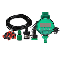 18m DIY Micro Drip Irrigation System Plant Self Automatic Watering Timer Garden Hose Kits With Adjustable Dripper