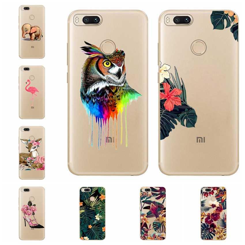 Étui de téléphone pour xiaomi rouge mi 4X Note 3 mi A1 Note 4 Pro 4A Note 5 6 6pro hibou cerf fleur Fla mi ong chat poisson étui couverture Funda A613