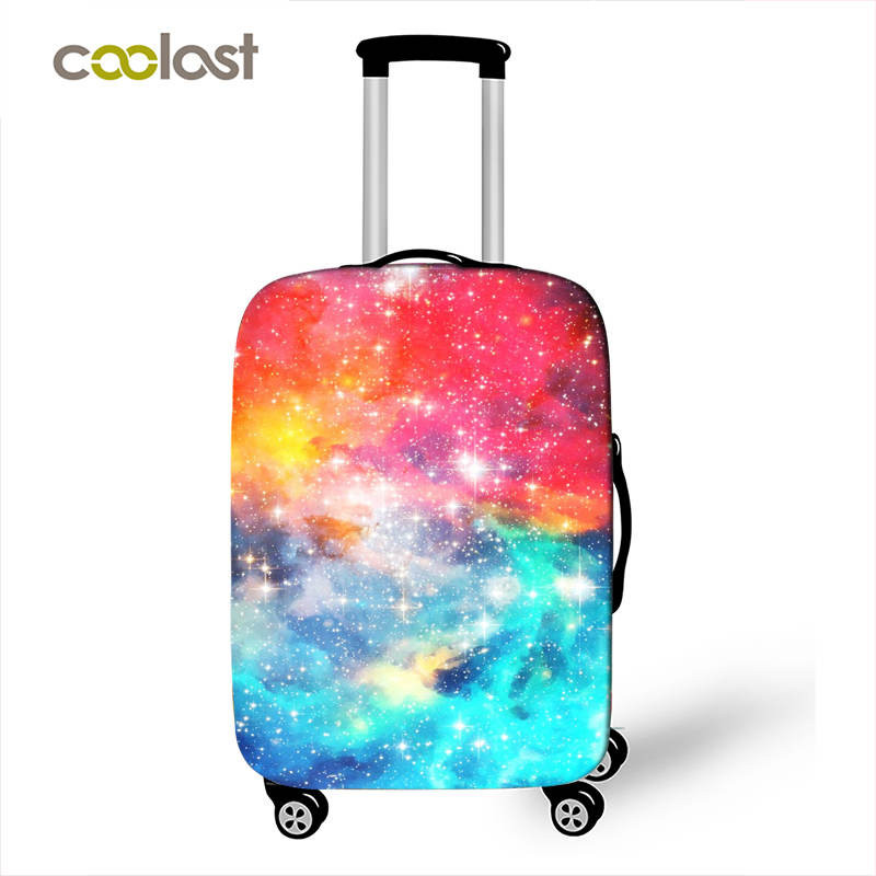 Cute Galaxy Starry Night Luggage Protective Cover Travel Accessories Universe Planet Elastic Suitcase Covers Anti-dust Covers