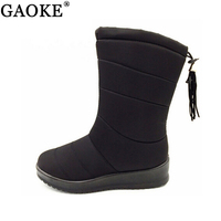 Winter Women Boots Mid Calf Down Boots Female Waterproof Ladies Snow Boots Girls Winter Shoes Woman