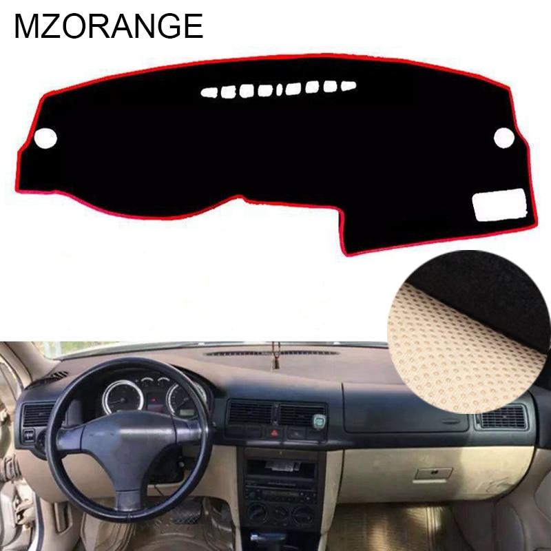 Para VolksWagen GOLF 4 MK4 1997-1999 2000 2001 2002 2003 Preto Inner Auto Dashmat Pad Cover Dashboard Tapete protetor Mat LHD