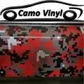 Schwarz Rot Vinyl Film Digitalen Aufkleber Auto Wrap Motorrad Lkw Fahrzeug Volle Body Wrapping Pixel Aufkleber Mit Luftblase Frei