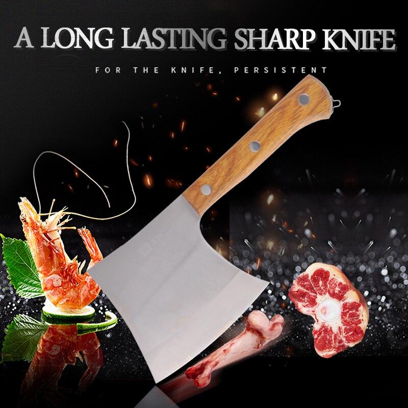 Фирменный кухонный нож из нержавеющей стали 40Cr13, разделочный нож для Кливера, инструмент для приготовления пищи, прекрасная Подарочная коробка, нож для мясника с деревянной ручкой