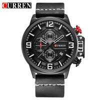 2018 Fashion Luxury Brand CURREN Watches Men Leather Band Quartz Sport Watch Chronograph Men's Wrist Watches Clock Men 8278