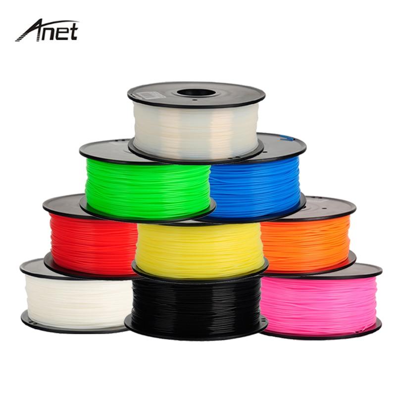 ABS 1.75mm 1Kg/bobine plastique tige caoutchouc ruban consommables matériaux recharges pour MakerBot/RepRap/UP/Mendel 3D imprimante Filaments