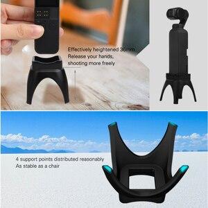 Image 3 - מוגבר בסיס הר עבור אוסמו כיס כף יד מייצב שולחן העבודה Stand Mounts עם טעינת חור עבור אוסמו כיס אבזרים