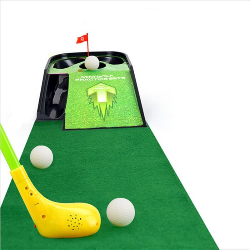 New style Childrens Golf Practice Table Set Deluxe Edition With Acousto-optic Music Outdoor Golf Sports Toys