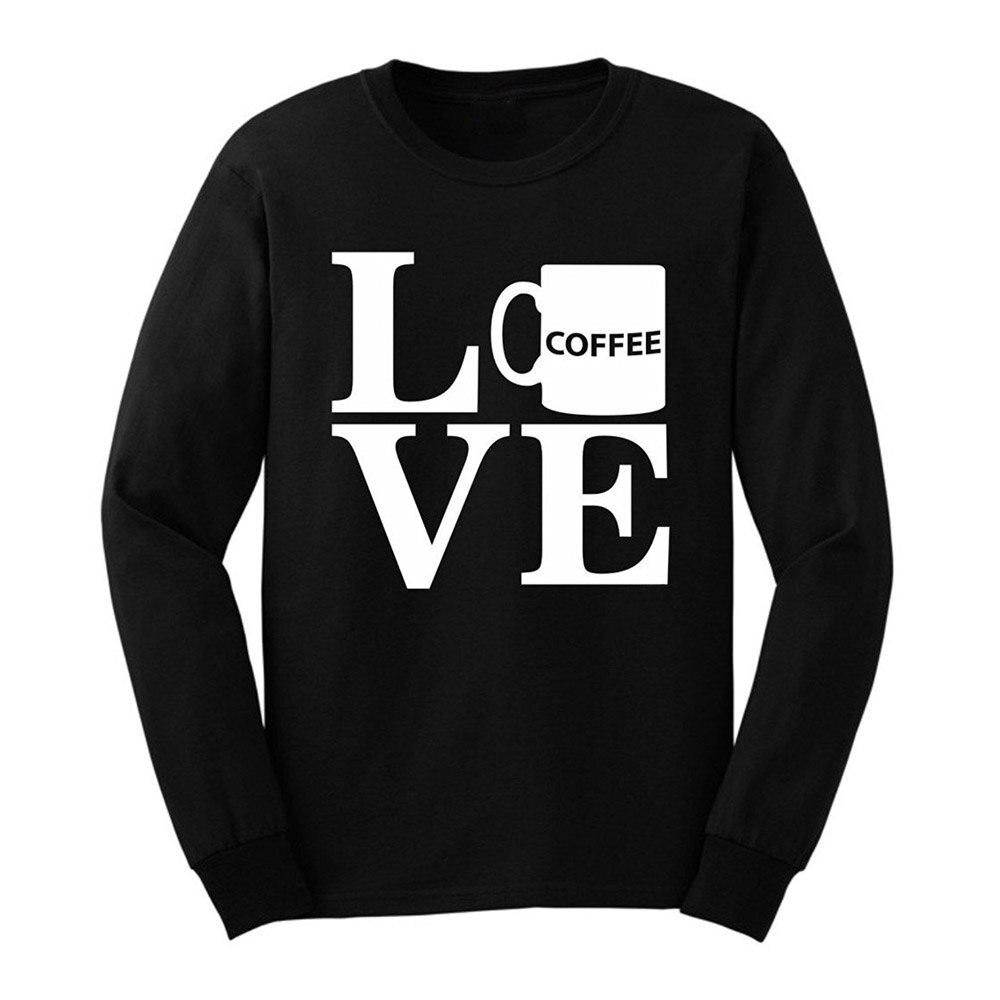 763400d12c Loo show mens café regalo del amante amor taza de café manga larga Camisetas  casual men tee