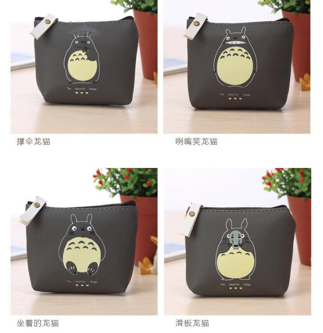 10 pieces Hayao Miyazaki Totoro Coin Purse Unisex Waterproof Earphone Key Bag Mini PU Leather Zipper Children Change Pouch 12mm waterproof soprano concert ukulele bag case backpack 23 24 26 inch ukelele beige mini guitar accessories gig pu leather
