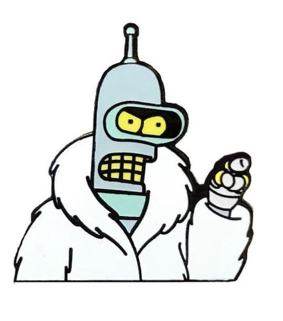 Futurama Bender Meme Emaille Pin Rucksack Jacke Revers Hut Pin In