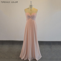 Real Simple Long Evening Dress Ever Pretty Sleeveless Ruched Bust Skin Pink Woman Maxi Chiffon Free Shipping Vestidos Dresses
