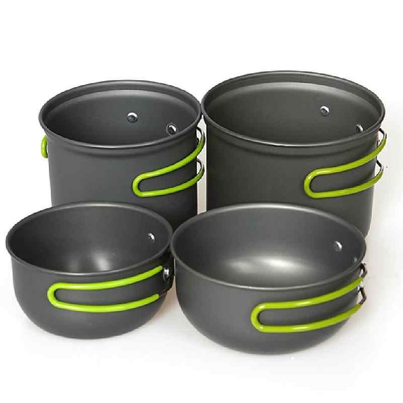 4 piezas de utensilios de cocina portátiles para Camping al aire libre para 2-4 personas
