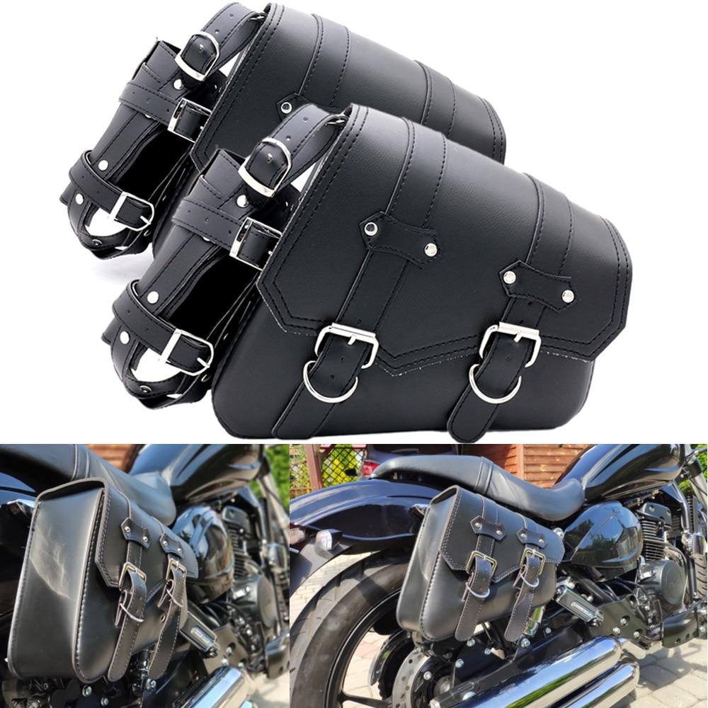 Мотоциклетная сумка, кожаные водонепроницаемые багажные сумки для Sportster XL883 для Triumph Rocket Roadster для Kawasaki Vulcan