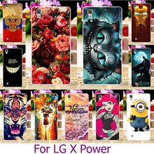 Hard Plastic Case Painted Mobile Phone Cases For LG X Power K210 K220 K220DS XPower 5.3 inch Case Cover Shell Housing