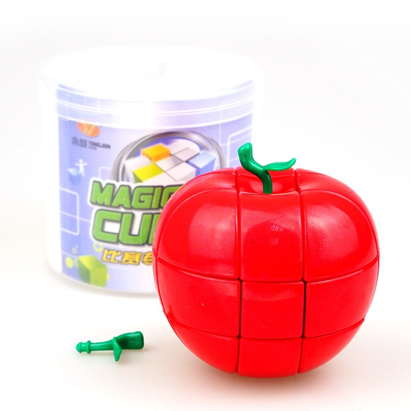 YongJun YJ 3x3x3 Red Apple Style Strange-shape Puzzles Magic Cubes For Kids Child Smooth Educational Toys Speed Cubo MagicoYongJun YJ 3x3x3 Red Apple Style Strange-shape Puzzles Magic Cubes For Kids Child Smooth Educational Toys Speed Cubo Magico