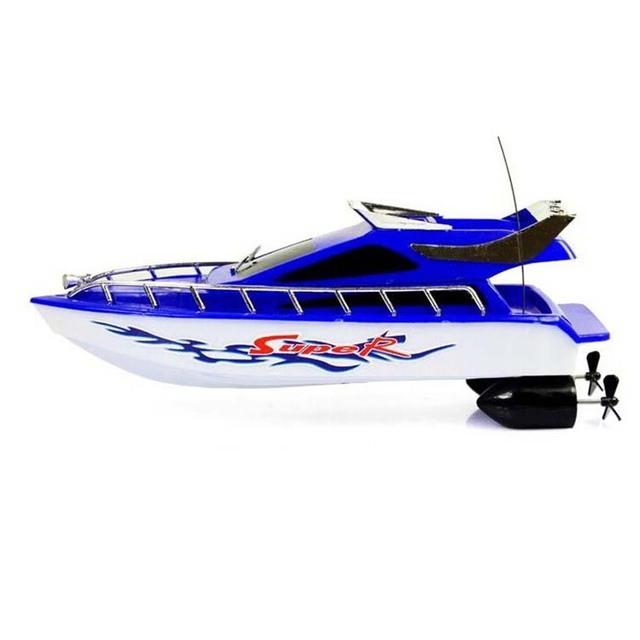 Atractivo Nueva Moda de Plástico De Gran Alcance Velocidad de Barcos de Control Remoto Juguetes Eléctricos Modelo Velero Niños Kids Game Buque