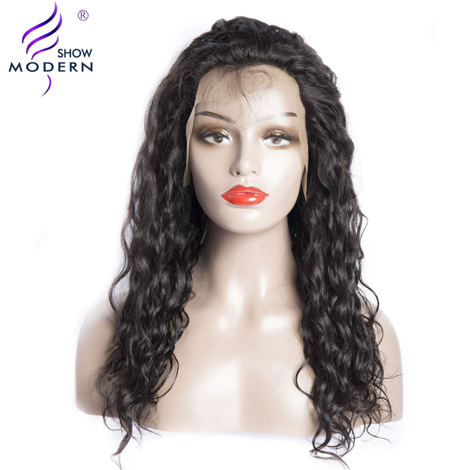 180 Density Brazilian Water Wave Lace Front Human Hair Wigs with Baby Hair Pre Plucked 14-26 Inch Modern show Hair Wig Remy Hair