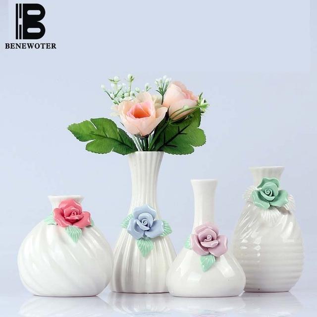 Handmade Ceramic Pottery Carved Flower Vase Aroma Essential Oil