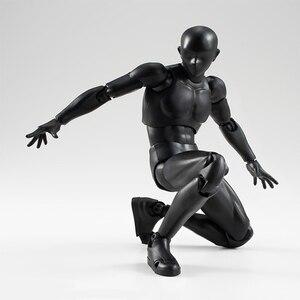 Image 5 - 14cm erkek kadın hareketli vücut eklem aksiyon figürü oyuncakları sanatçı sanat resim Anime modeli bebek manken bjd sanat kroki çekme
