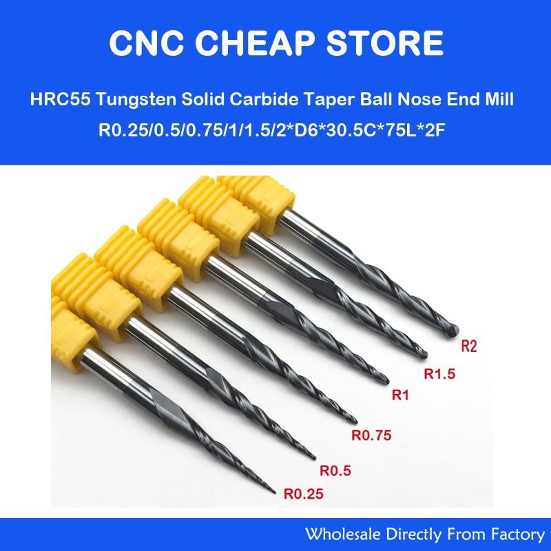 6 Models R0 25 R0 5 R0 75 R1 0 R1 5 R2 0 CNC solid