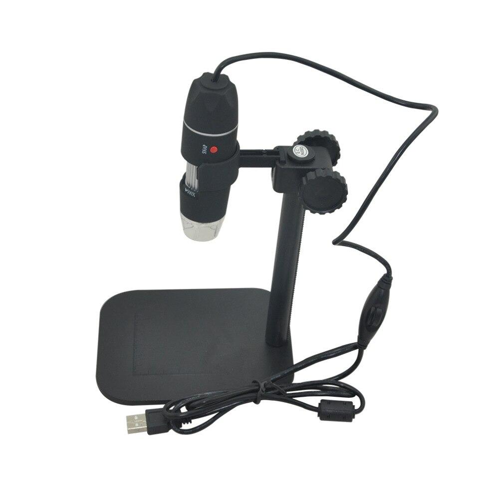 Usb digitale microscoop camera elektronica led elektron biologische Endoscoop 500X glazen vergrootglas Vergrootglas Bureau Loupe Zwart