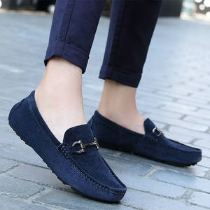 5e5fb11a642 Thestron Winter Driving Male Suede Loafers Casual Shoes Men