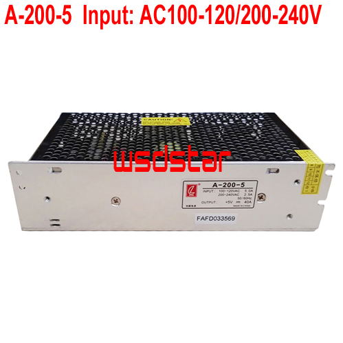 A-200-5 5V 40A 200W Input 100-120 or 200-240V Suitable outdoor & indoor LED display CE RoHS New Hot Sales 2pcs/lot