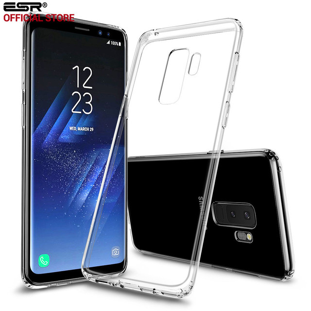 free shipping 522ea c5572 US $4.79 40% OFF|ESR Case for Samsung Galaxy S9 S9 Plus Cover Soft TPU  Bumper Transparent Clear Case Ultra Thin Light Weight Cover Case Fundas-in  ...
