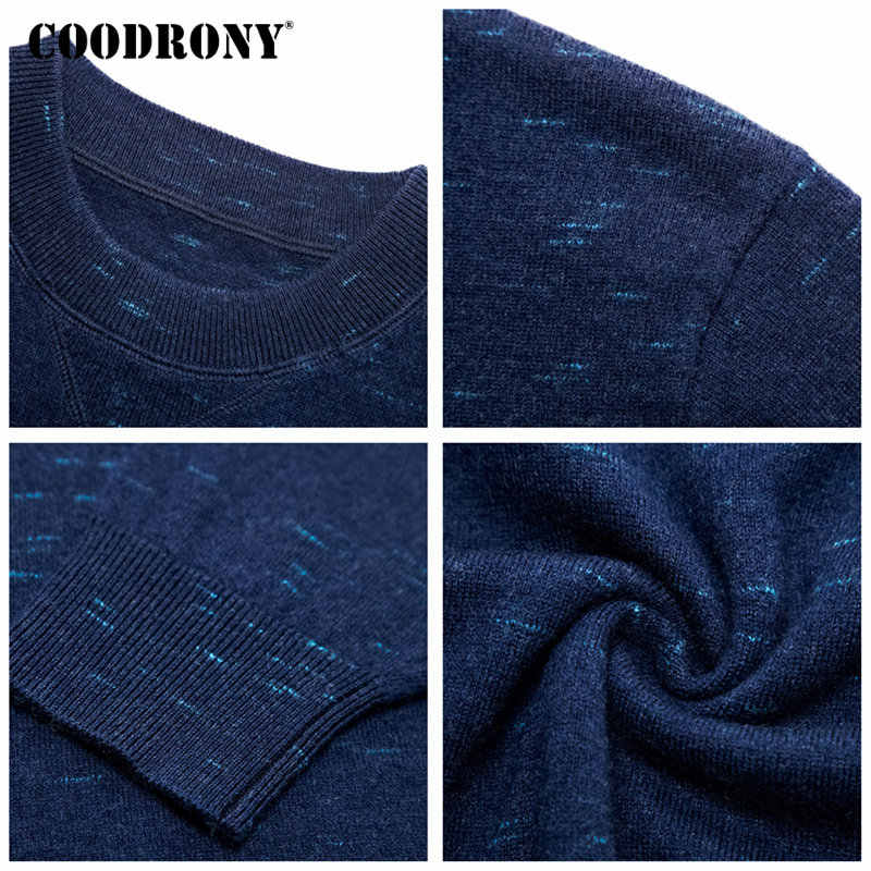COODRONY 2018 New Arrivals Pure Merino Wool Sweater Men Casual O-Neck Mens Sweaters Winter Thick Warm Cashmere Pullover Men 8327