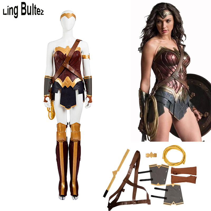 Ling Bultez High Quality 2017 Movie Wonder Woman Cosplay Costume Wonder Woman Costume Super Heroine Costume For Halloween