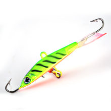 FISH KING 1PC 7G 9G 12G 13G Wobbler With Hooks Winter Fishing Jig Head Jigging Lure Ice Fishing Bait Fishing Tackle 3D Eyes