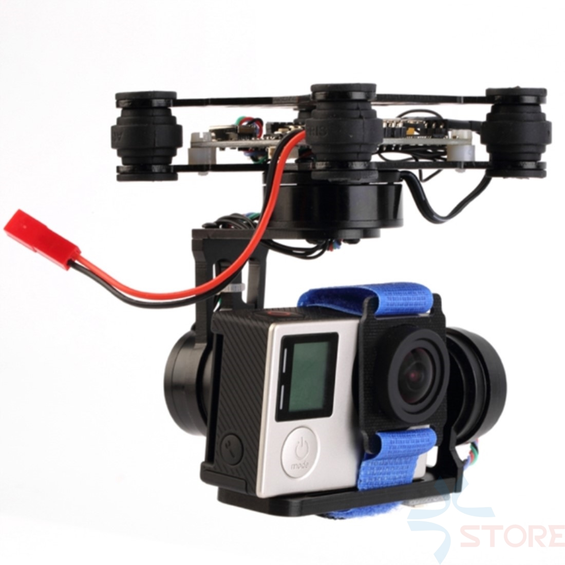 3 Axis assembled Brushless Gimbal Frame With Motors & Storm32 Controlller for Gopro 3 4 Xiaomi Xiaoyi SJ4000 SJCAM FPV RTF professional drone accesorries brushless gimbal frame 2 motors controller for dji phantom gopro 4 3 3 fpv 6a30 drop shipping